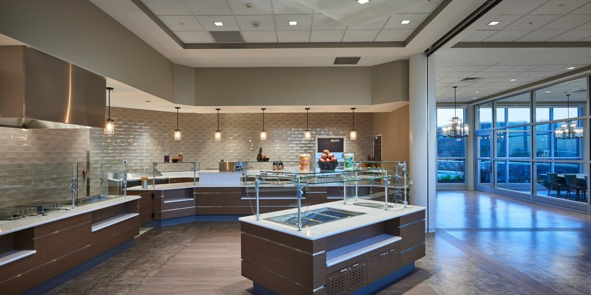 Neag medical center interior dining kitchen