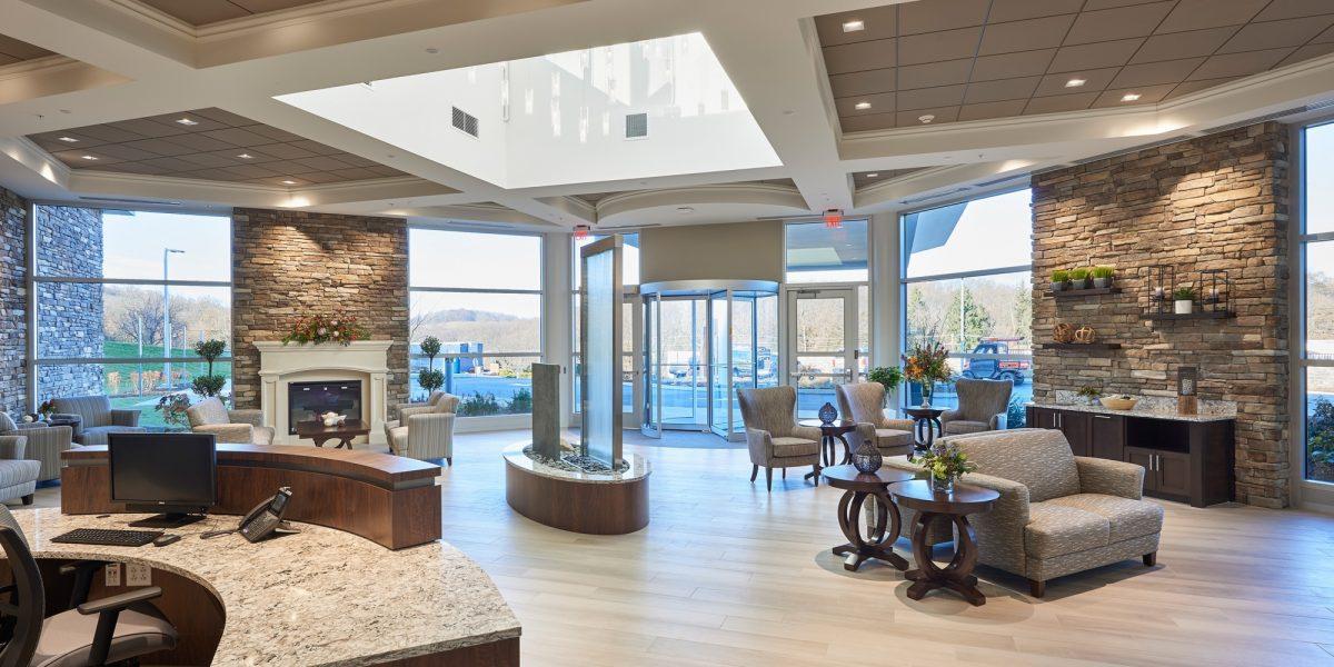 Neag medical center interior lobby lounge