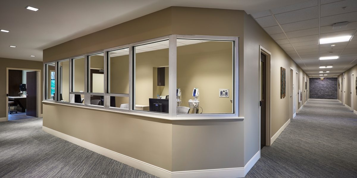 Neag medical center interior nurses station