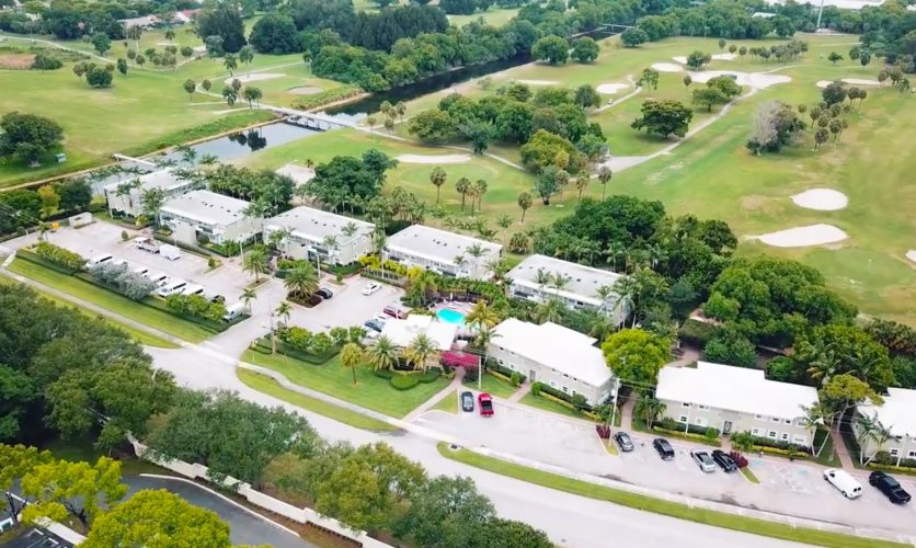 Drone aerial shot of the Caron Renaissance Campus in Florida.