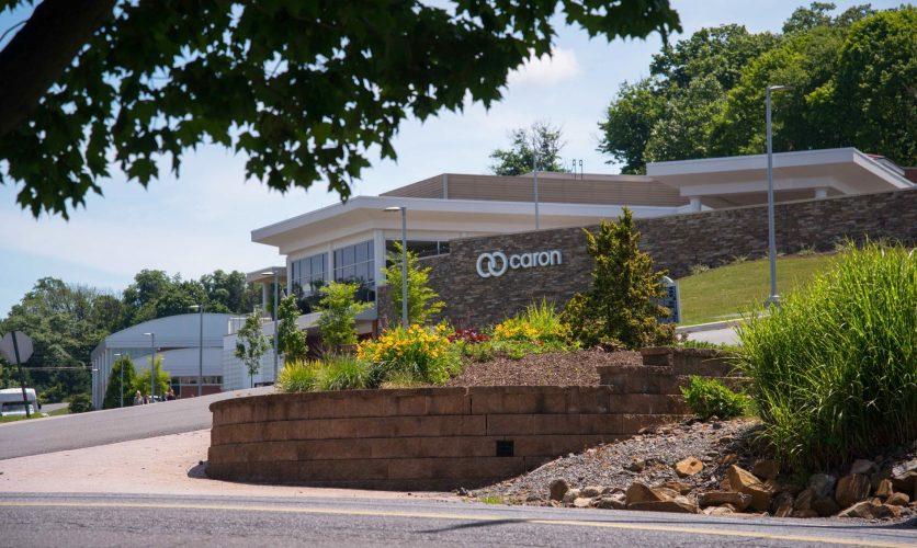 Caron Pennsylvania Campus exterior with logo.