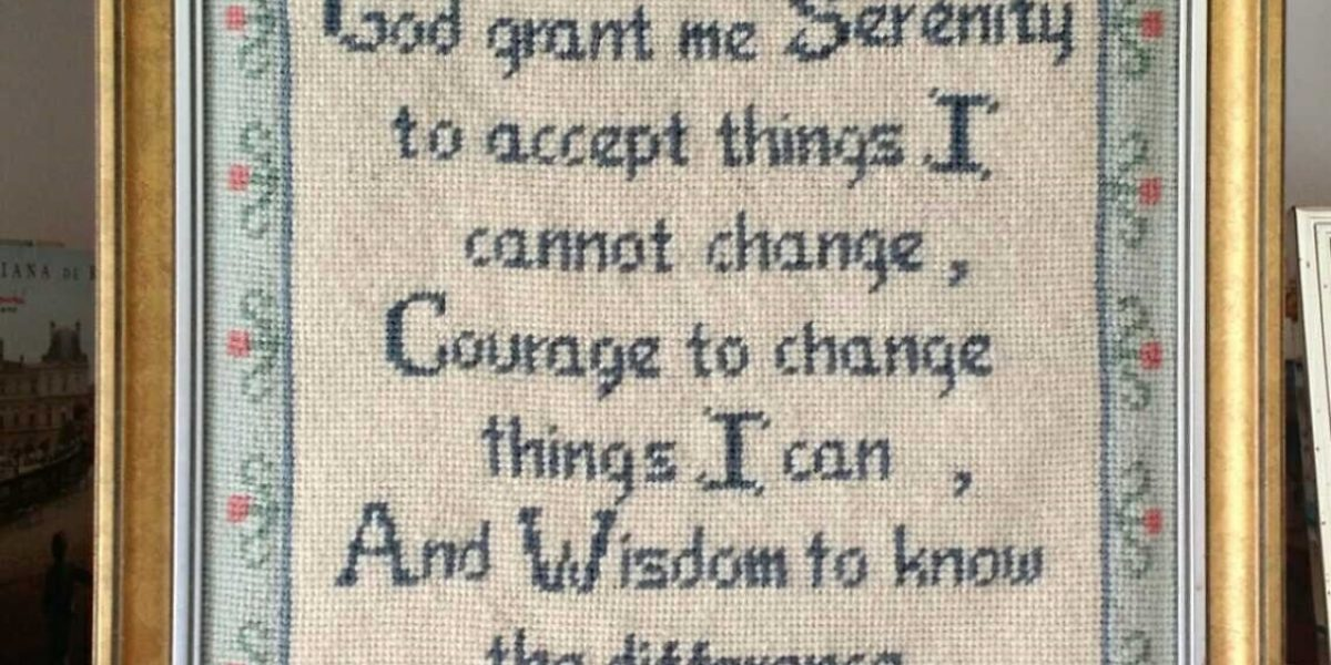 Picture with serenity prayer