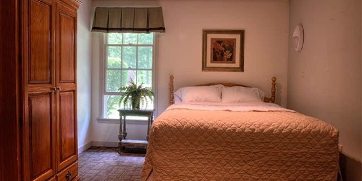 Photo of a private bedroom offered as part of Caron's Adult Program