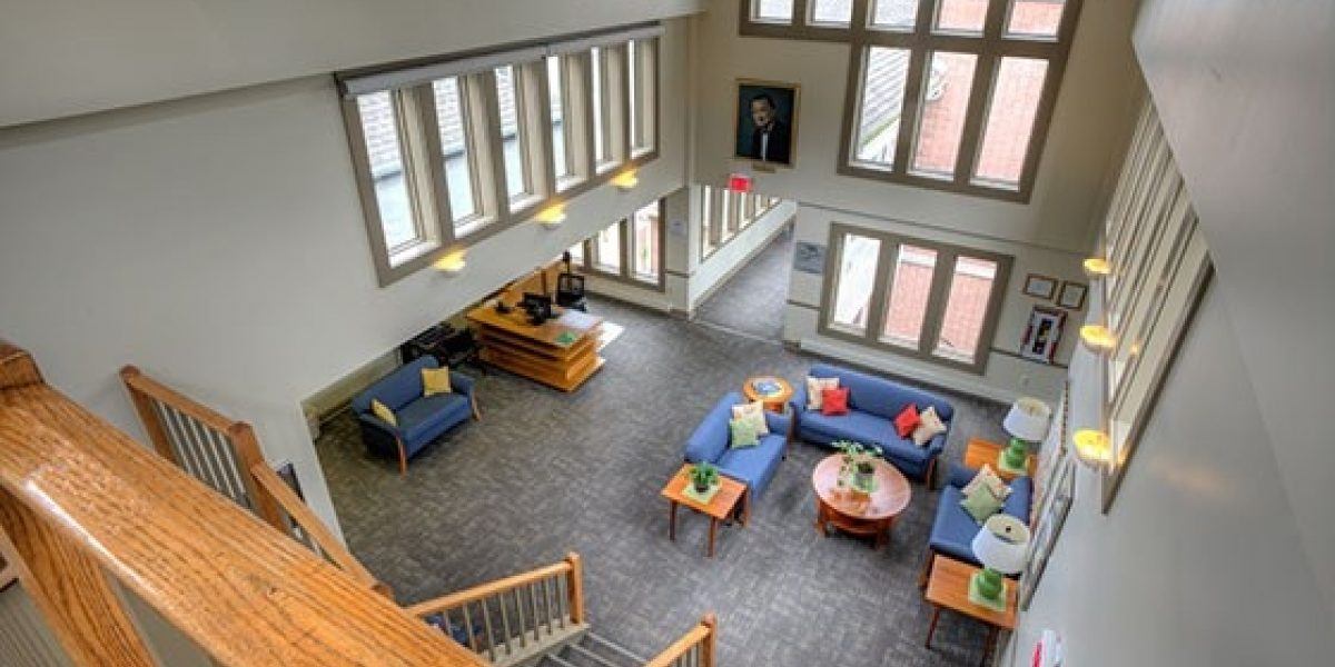 Photo of the lobby at the Womens' Center