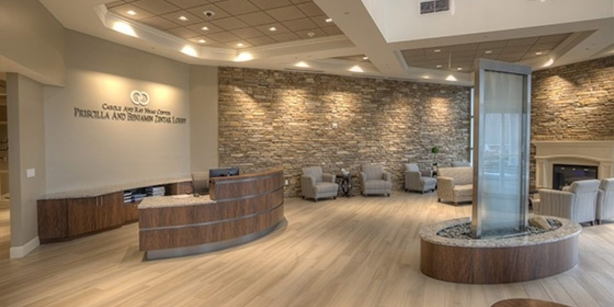 Photo of the admissions Lobby of the Carole and Ray Neag Medical Center