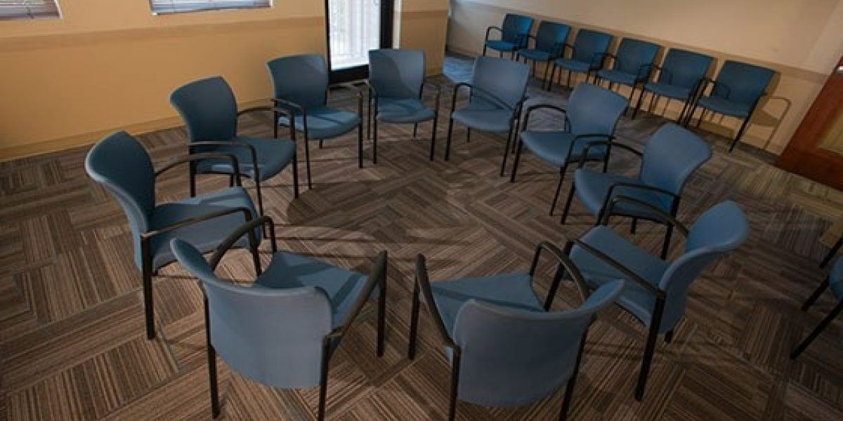 Photo of interior of group room at Renaissance clinical campus