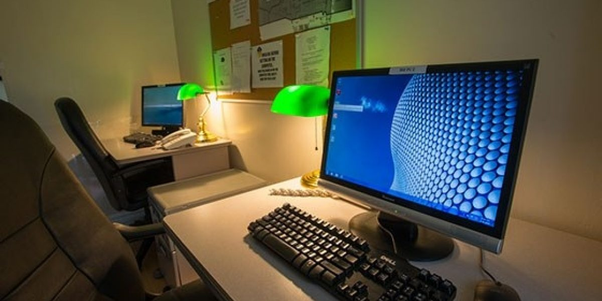 Photo of the computer lab of the residences