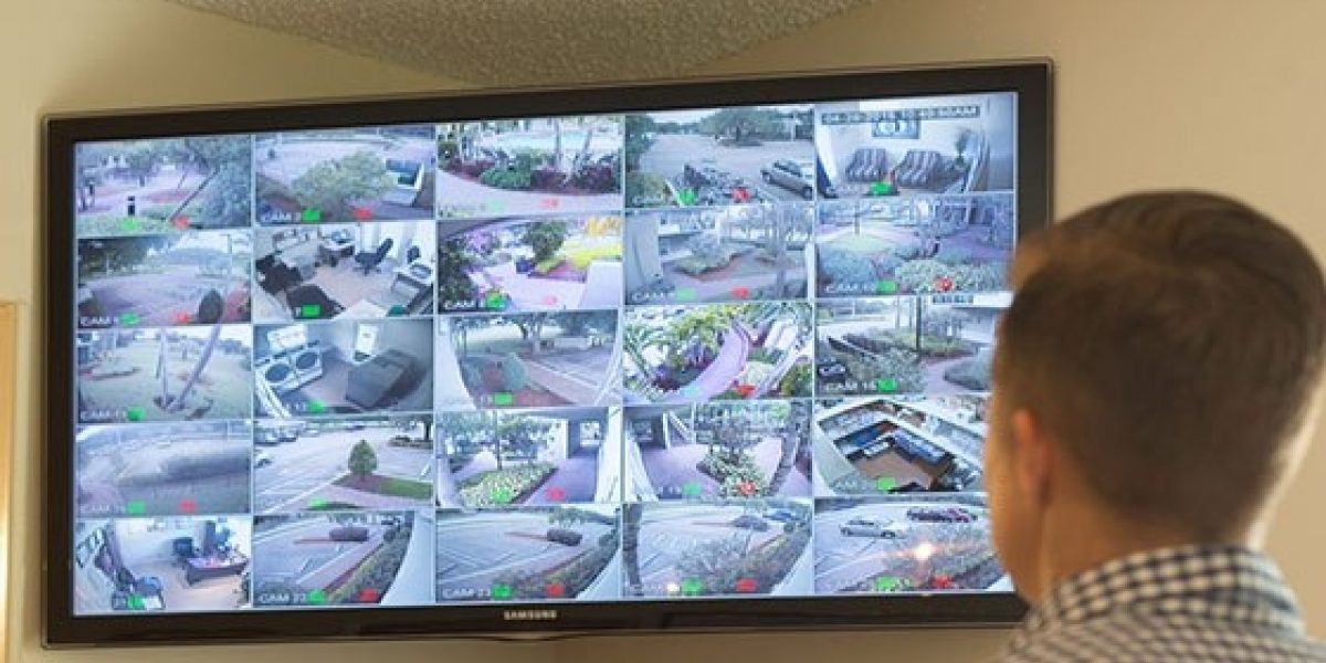 Photo of surveillance and security officer at the residences