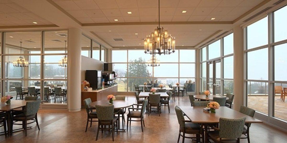 Photo of the interior of the senior cafeteria