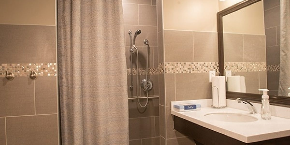 Photo of the bathroom at the older adult program's residences