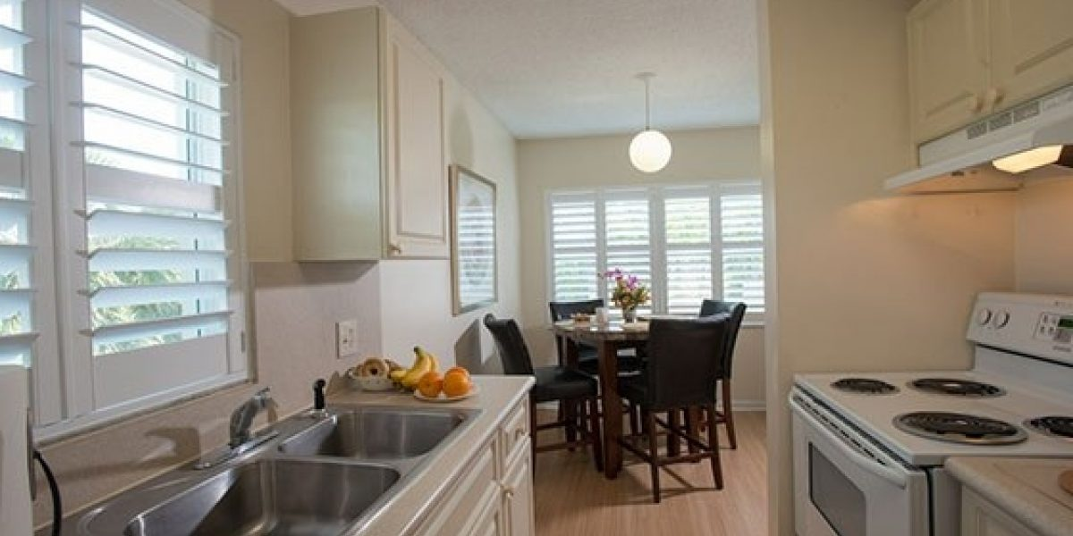 Photo of kitchen in young adult apartment at Caron Renaissance