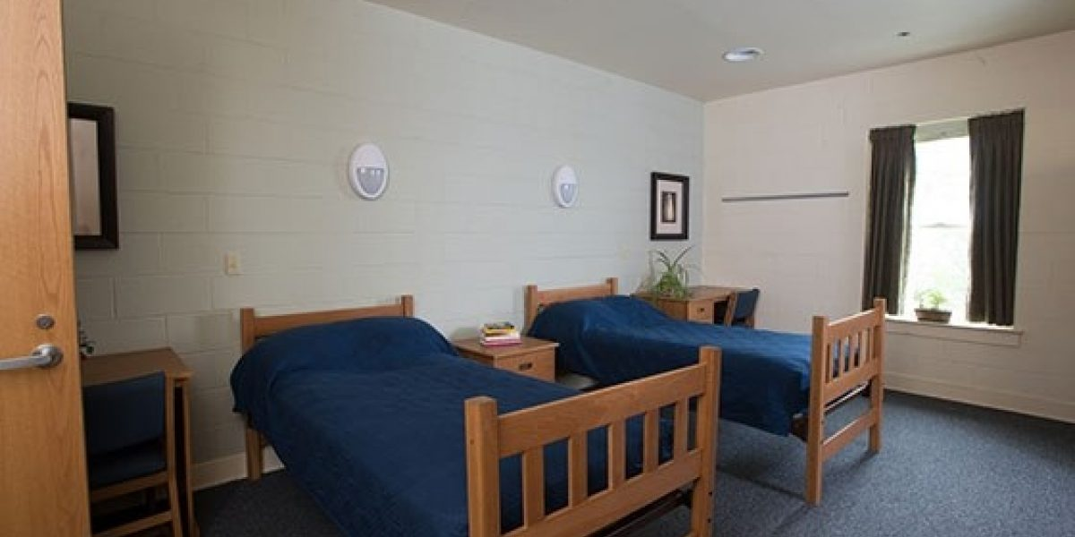 Photo of the interior of young adult men patient bedroom
