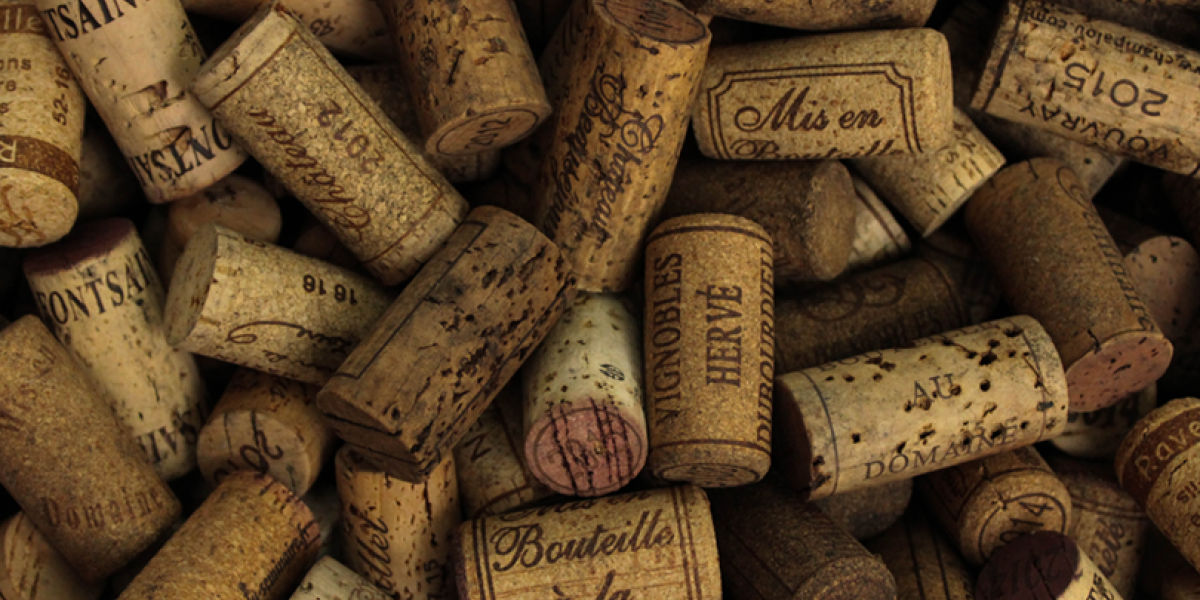 Pile of wine bottle corks.
