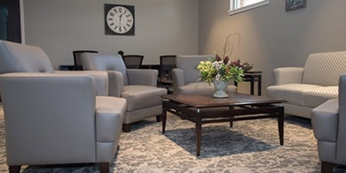 Photo of the lounge at the Carole and Ray Neag Medical Center