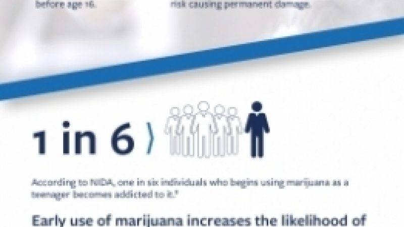 Infographic that describes the impact of marijuana on adolescent brain development