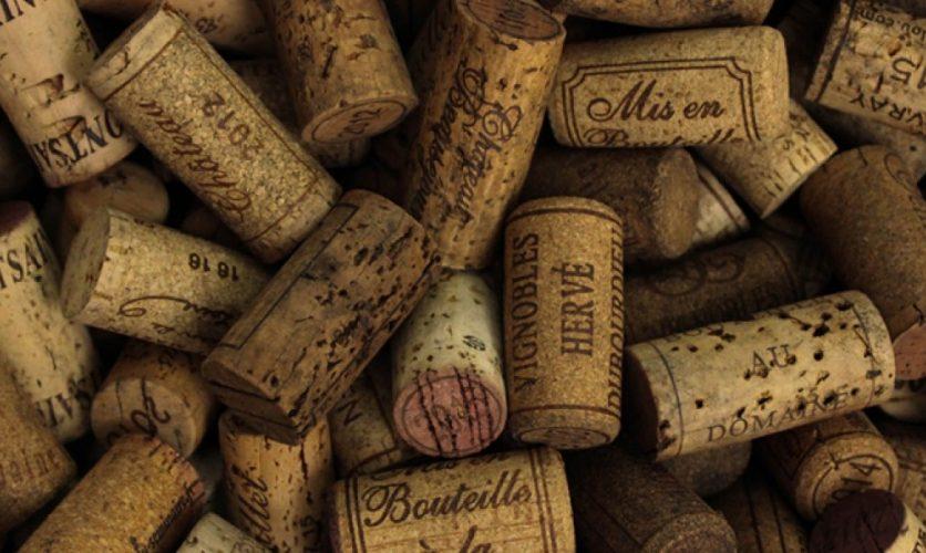 Pile of wine bottle corks.