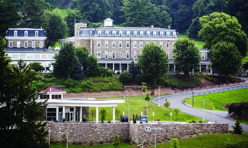 Wide shot of the exterior of Caron's campus in Wernersville, PA.