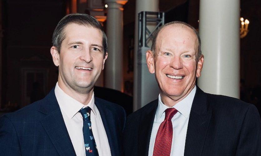 Image with current Caron's CEO Brad Sorte and Caron's previous CEO Doug Tieman.